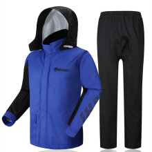 ESG Japan Imported Material Motorcycle Raincoat Sport Rainsuit Downpour Rainproof Blue XL