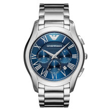 Emporio Armani Valente AR11082 Chronograph Blue Dial Stainless Steel Strap [AR11082]
