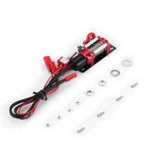 COZIME Metal Automatic Winch with Switch for 1/10 RC Car Off-road Crawler Model Red