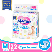 MERRIES Premium Popok Tape M 22 – Free with Purchase