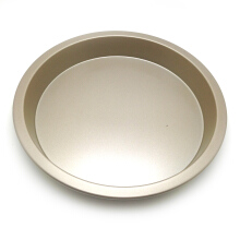 Anamode Golden Carbon Steel Non-Stick Pizza Baking Pan Round Pie Mold -