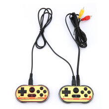 [OUTAD] MINI Classic Family Game Consoles Built-in 260 TV Video Dual Controllers Red Black