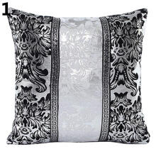 Farfi Vintage Black and White Flower Throw Pillow Cushion Cover Case Home Sofa Decor