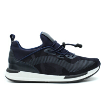 CAVALLERO UDORI Synthetic Leather Men's Casual Shoes Navy