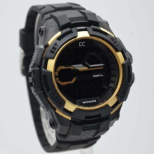 Digitec Collection DD-5007M-8780 D45H198DGMHTGLD Jam Tangan Pria Dualtime Rubber Strap - Hitam Gold Black