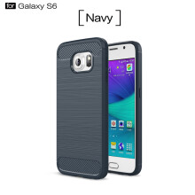RockWolf Samsung Galaxy S6 case Luxury brushed carbon fiber TPU soft shell