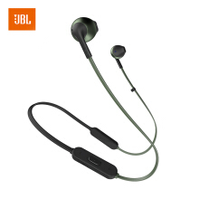 JBL TUNE205BT Wireless Bluetooth Headset Sports Headphones T205BT Half Ear Music Headphones With Mai Phone Call Green Coral