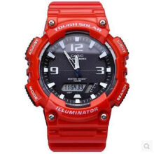 Casio AQ-S810WC-4A Sports double display waterproof electronic watch-Red