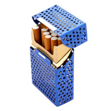 JDWonderfulHouse Honana HN-C1 Fashion Creative Cigarette Box Holds 20pcs Metal Hollow Cigaret Case Organizer