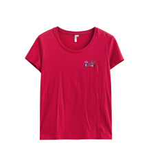 INMAN 1882022473 Round Collar Elastic Comfortable Women T-Shirt