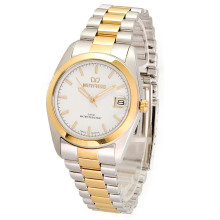 MIRAGE Watch Men TS195M Silver Gold - White
