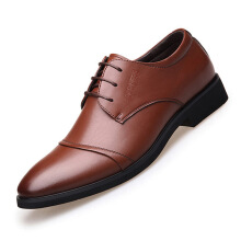AUFU Business dress casual shoes men's leather shoes