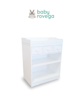 BABY ROVEGA Belle Baby Drawers Premium Solid Wood 80x50x100cm White