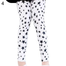 Farfi Fashion Kids Girl Pants Trousers Flower Butterfly Star Print Cotton Leggings