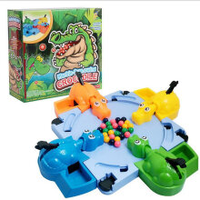[COZIME] Crocodile Swallowing Beads Eating Beans Table Games Four-person Toys Multicolor