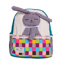 [COZIME] Cartoon Rabbit Children Backpack Unisex Plaid Pattern Children School Bag Others1