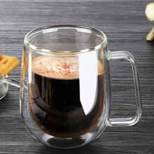 UCHII Double Wall Coffee Mug Cup With Handle - Gelas Kopi Gagang Dinding Ganda