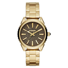 Diesel DZ5474 Ms9 Chronograph Ladies Gold Glitter Dial Gold Stainless Steel [DZ5474]