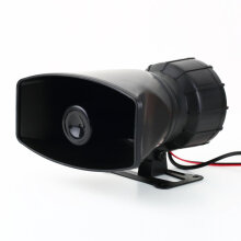 Loud Horn 12V Car Siren Auto Van Truck PA System 60W Max 300dB 5 Sounds tone Black