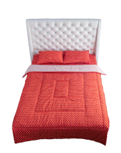 NYENYAK Polkadot Fitted Sheet - Red/White