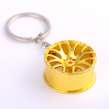 Jantens Metal Creative Keychain Wheel Rim Model Key Chain Car Personality Keyring Wheel Hub