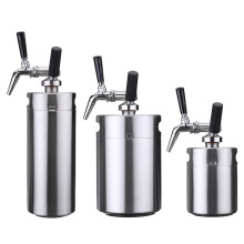 JDwonderfulhouse Nitro Cold Brew Coffee Maker Mini Stainless Steel Keg Home Brew Coffee Cup System Kit  4LMulticolor