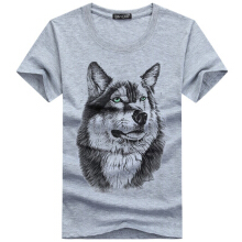 Ta To New Fashion Womens/Mens T-shirt O-Neck Short Sleeved 3D Print Funny Wolf Cotton Casual Tees Tops Plus Size 5XL