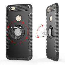 RockWolf Xiaomi Redmi note 5A pro case silicone metal ring shell magnetic bracket