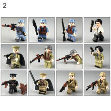 Farfi 12Pcs/Set Cartoon City Police Soldier Building Block Toys Kids Game Gift