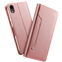 MOONMINI iPhone Xr PU Leather Wallet Case Flip Stand Cover with Mirror and Card Slots
