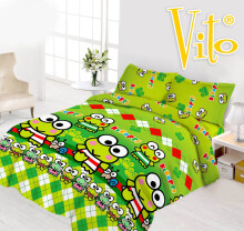 Sprei Vito Disperse Uk 180 Bantal 2 Keroppi