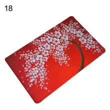 Farfi Floral Tree Painting Print Anti-Slip Mat Area Rug Home Decor