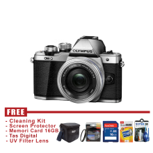 Olympus OM-D E-M10 Mark II 14-42mm EZ Silver - FREE Accessories