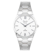 Alexandre Christie AC 8542 LD BSSSL Ladies White Dial Stainless Steel Strap [ACF-8542-LDBSSSL] Perak