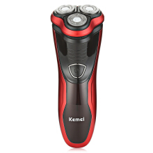 Kemei KM - 9013 Floating Shaver Wet Dry Washable Electric Razor Triple Blade Waterproof Portable 220V Black