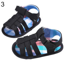 Farfi Baby Boy Cotton Cloth Sole Sandals Prewalker Anti-Skid Shoes