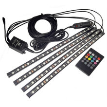 [COZIME] 18LED Car Styling Interior Voice Control Lamp Strip Decorative Ambient Light Black