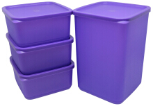 Lula Food Storage Isi 4 Purple