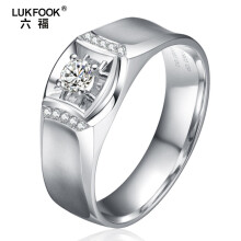 lukfook cincin berlian pria white gold size 20-22 diamond 0.30ct