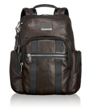 TUMI Alpha Bravo Nellis Leather Backpack - Brown