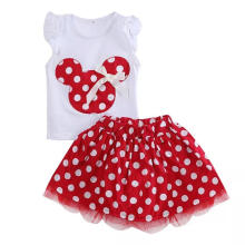Voque Stelan Baju anak perempuan mickey-Red