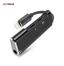 JOYSEUS iPhone 7/8/X Adapter 2 in 1 Lightning Adapter for  Dual Lightning with 3.5mm Headphone Jack 3 in 1 Adapter Black