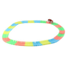 COZIME 165pcs Kids Children Colorful Race Track With LED Light Cars Racing Game Toy Multicolor