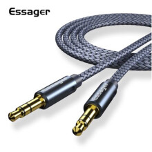 Essager Aux Cable Speaker Wire 3.5mm Jack Audio Cable For Car Headphone Adapter Jack 3.5 mm Speaker Cable For Microphone MP3 MP4