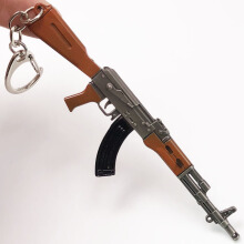 Jantens 12cm PUBG 7.62mm Weapon Rifle AKM Model Keychain Brown