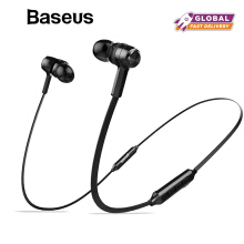 Baseus S06 Bluetooth Earphone Wireless Headphone For iPhone Samsung OPPO ViVO Xiaomi Neckband Earbuds Stereo Headset with MIC - Black