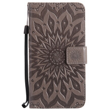 Sannic Xiaomi NOTE 4X Phone Case Sun Flower PU Leather Casing Emboss Flip PU Leather Stand Cover Cases