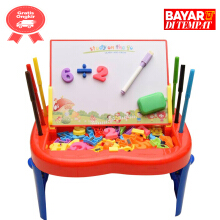 TOMINDO Funny Studio Easel papan tulis anak - red