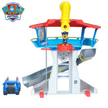 PAW PATROL Children Educational Toy Girl Boy Play House Scene Toy Car Dog Mobile Rescue Car 360 Rotatio Watch Lookout Tower Set