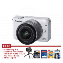 Canon EOS M10 Kit 15-45mm IS STM Putih - FREE Accessories